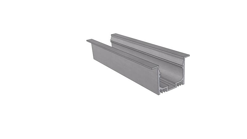 Врезной алюминиевый профиль LC LPV 3250 2 Anod