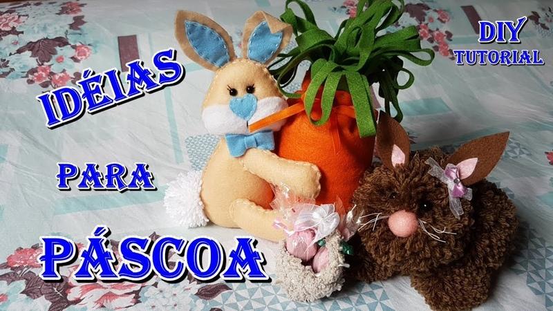 Coelhinhos porta chocolate para lembrancinhas e centro de mesa Páscoa