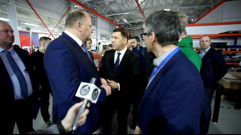 Визит полпреда Н.Н. Цуканова и губернатора Е.В. Куйвашева