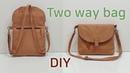 DIY Two way bag Two way bag tutorial 백팩 만들기 Mach einen Rucksack