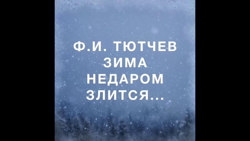 ГБОУ Школа 17, ДО 2 группа «Васильки», Ф.И. Тютчев «Зима недаром злится...»