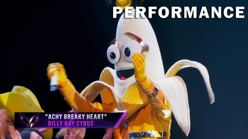 Banana sings Achy Breaky Heart by Billy Ray Cyrus THE MASKED SINGER SEASON 3