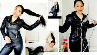 Hair Ponytail for My Baths & Shower Routines #hairponytail  #longhairponytail #wetleggings #wetjeans