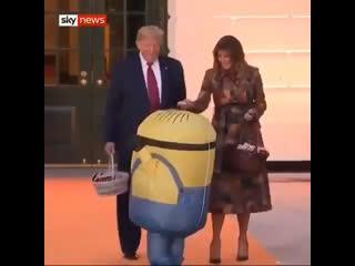 Trumps halloween fail