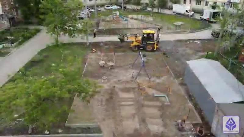 В Куйбышевском районе началось благоустройство дворов в рамках реализации муниципальной пр 1 mp4