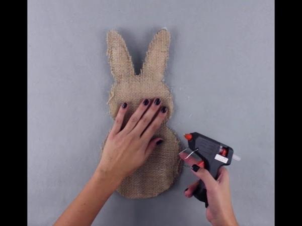 Decoração de Páscoa faça você mesmo uma guirlanda em formato de coelho