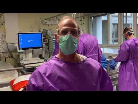 B-Roll Die neue Intensivstation HOF B für Corona-Patienten wird in Betrieb genommen