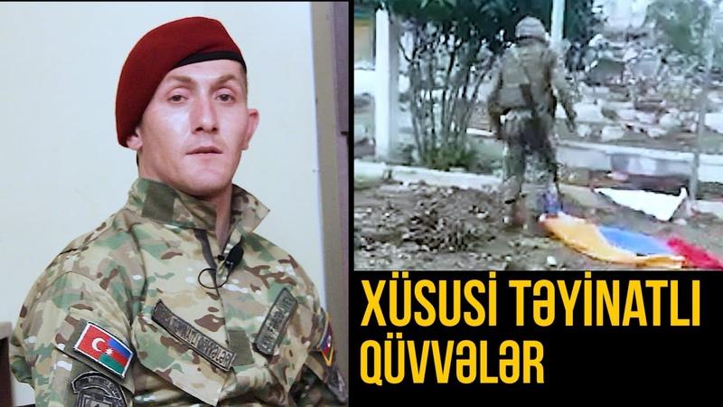 Xüsusi Təyinatlıları necə hazırlayırlar - Suqovuşana Azərbaycan bayrağı sancan İlkin Fərzəliyev