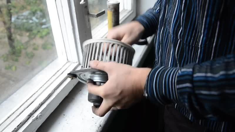 Daewoo Chevrolet Lanos Sens чистка вентилятора печки