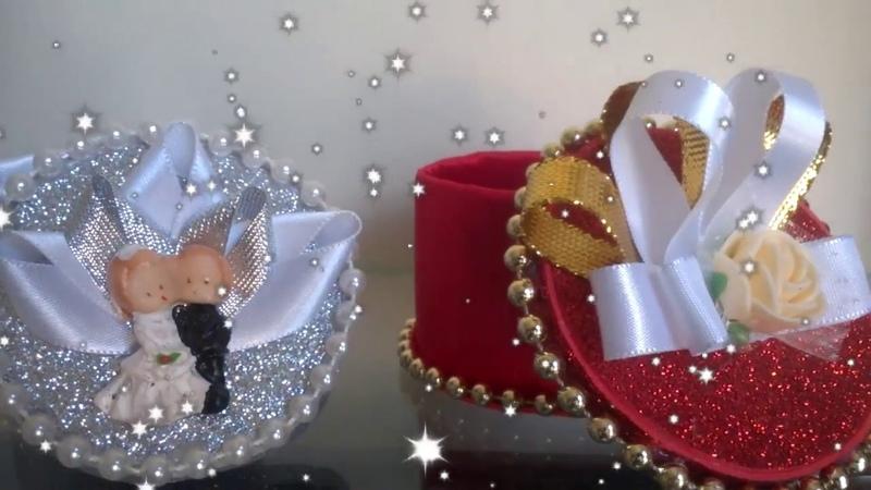 Lembrancinha de Casamento / E V A e Garrafa Pet! (pet bottle crafts)