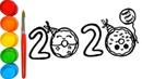 How to Draw 2020 Happy New Year's Art Bagaimana Draw 2020 Selamat Tahun Baru Seni