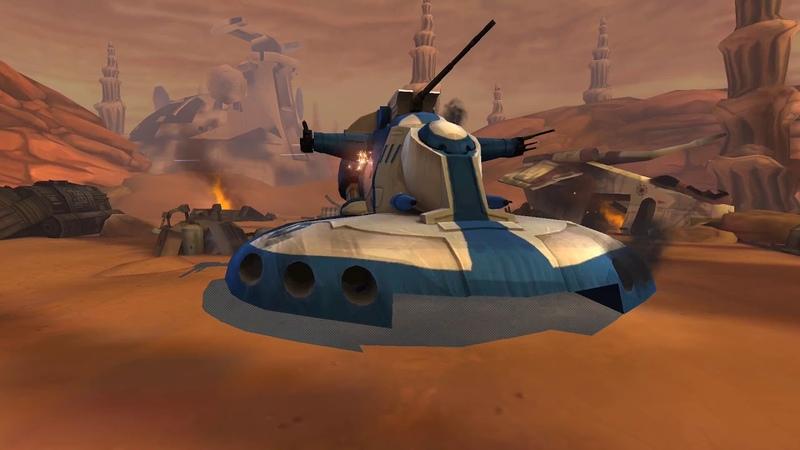 SWGOH: Raid. Heroic AAT raid full solo Shaak Ti 501 sgt clone trooper