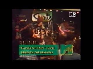 Sepultura slaves of pain (headbangers ball mtv europe) le gibus paris france 10th october 1989