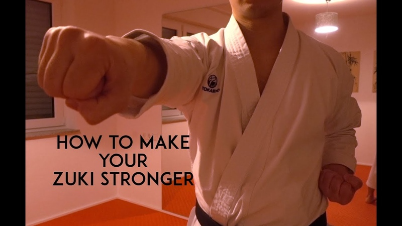 HOW TO MAKE YOUR ZUKI STRONGER karate home training TEAM KI