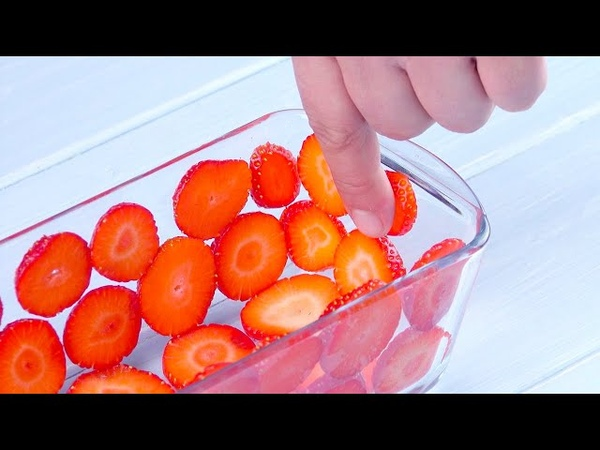 Coat A Glass Dish With Strawberry Slices For The Perfect Summer Dessert