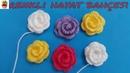 Tığ İşi Patik Çiçeği Gül Yapımı - Patik, Örgü İçin Süsleme/Anlatımlı Yapılışı/Örgü Dantel Oya El İşi