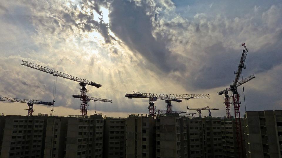 Изображение строительства домов.