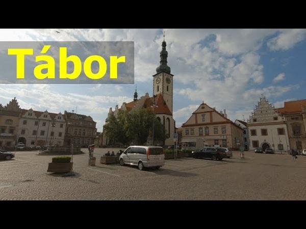 Walking in Tábor Capital City of Hussite Wars Czech Republic 4K