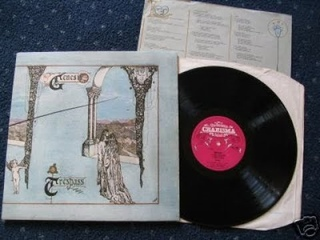 GENESIS Trespass 1970 1st UK Issue Pink Scroll Charisma 390 Rare Prog