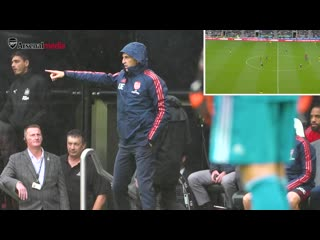 Arsenal bench cam - newcastle utd 0 - 1 arsenal - unai emery, pepe, ceballos