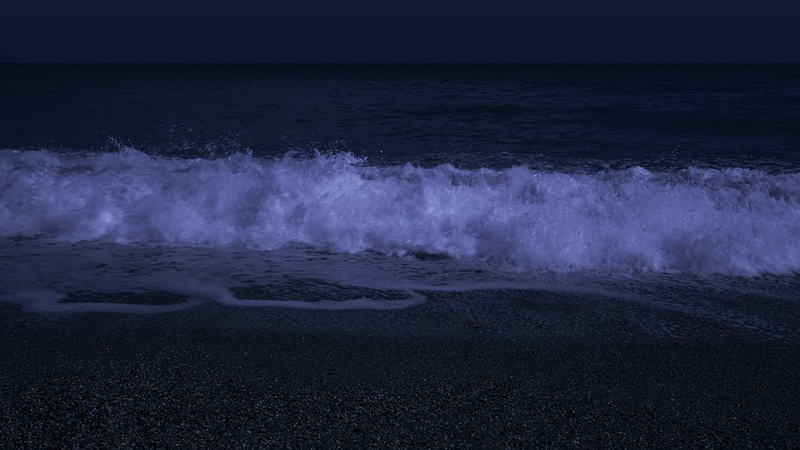 Fall Asleep with Powerful Waves at Night on Museddu Beach Ocean Sounds for Deep Sleeping