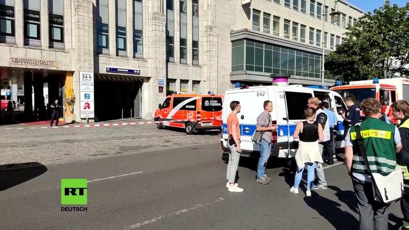 LIVE Raubüberfall am Hermannplatz in Berlin SEK durchsucht Karstadt