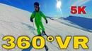 360° VR Sinaia Ski Slope Valea Dorului Laptici Soarelui Valley Schi Romania 5K Virtual Reality HD 4K