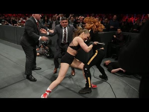 Video@rubyriottdaily RAW Feb 25 2019 Ronda Rousey Natalya vs The Riott Squad