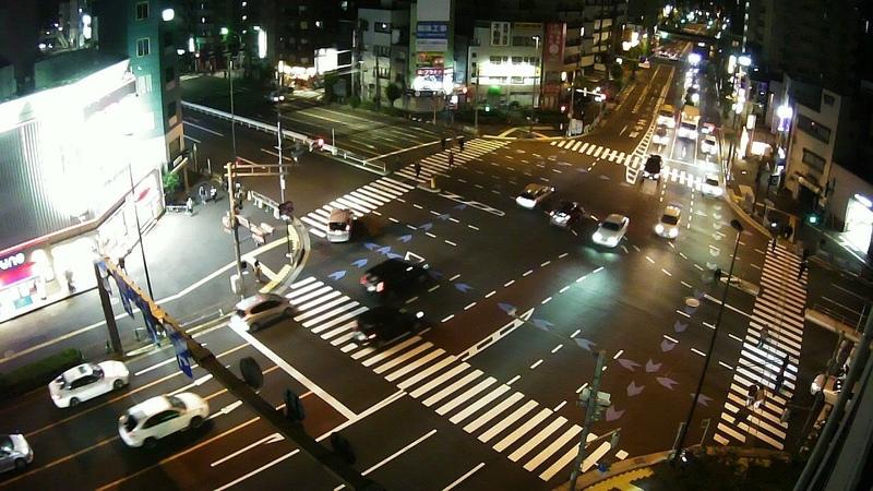 生中継 東京都台東区 大関横丁交差点 三ノ輪駅前  ライブカメラ 1228