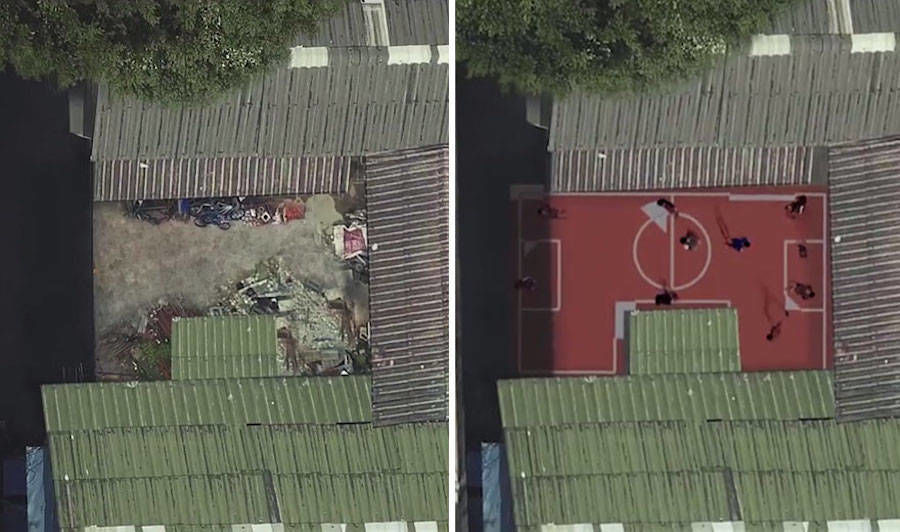 Unusual Football Fields in Bangkok