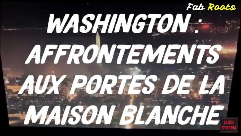🔥🏛️AFFRONTEMENTS AUX PORTES DE LA MAISON BLANCHE TRUMP ÉVACUÉ DANS UN BUNKER