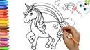 Как нарисовать единорог с MiMi   Раскраски детей HD   Рисование и окраска