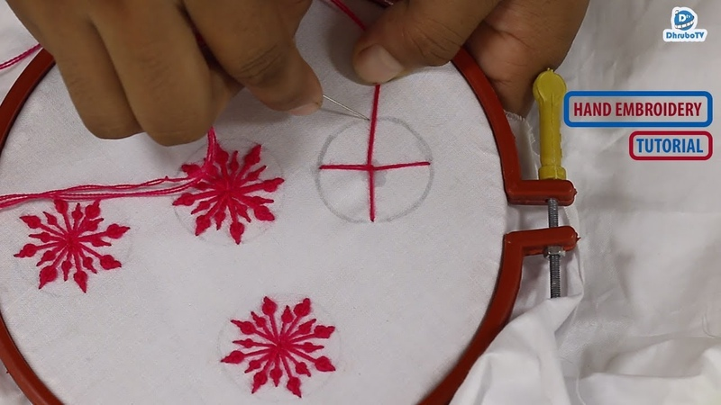 A Beautiful Hand Embroidery Flower Stitch For Nakshi Katha   DhruboTV