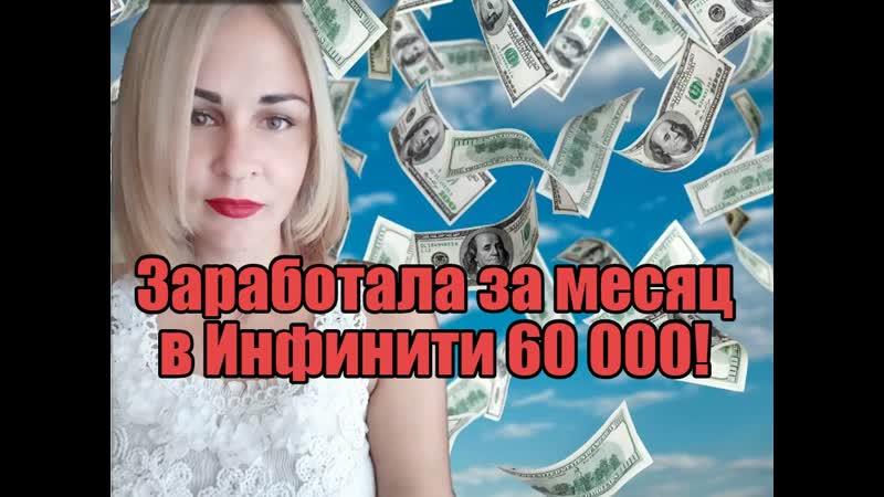 Заработала в ИнфинитиМатрикс 60 000 руб! За месяц