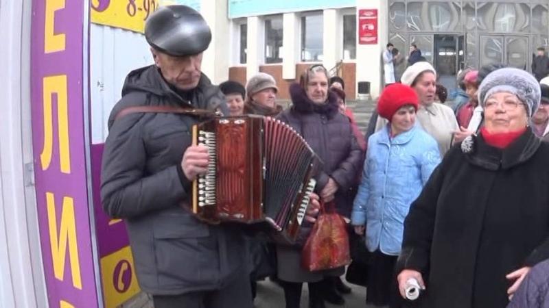 Гармонист Виктор Дергунов город Липецк 8.11.2015 год.Видео Ланских