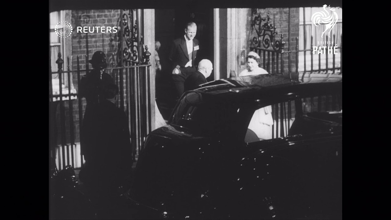 SIR WINSTON RETIRES Her Majesty and the Duke attend ... (1955)