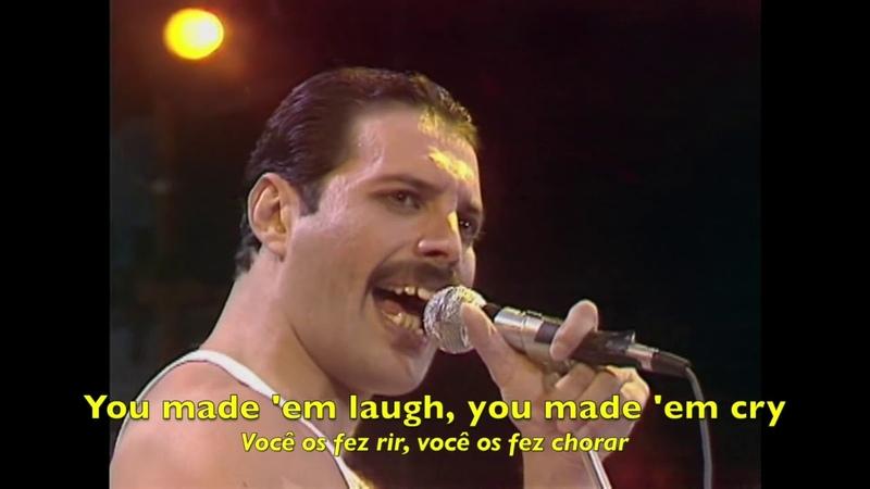 Queen Bohemian Rhapsody Radio Ga Ga Live Aid Tradução HQ