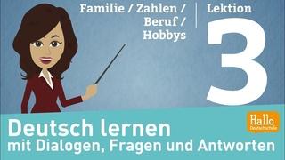 Deutsch lernen A1.1 / Lektion 3 / sich und andere vorstellen / Zahlen