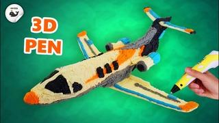 3D-ручка | Самолет | Как нарисовать Самолет 3D-ручкой. Бесплатный шаблон в описании