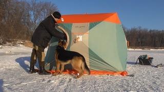 На улице -20, а в палатке жара! Зимняя рыбалка в мороз