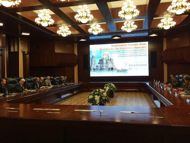Кинокомпания «Союз Маринс Групп» приняла участие в заседании ветеранских организаций в Международном военном центре