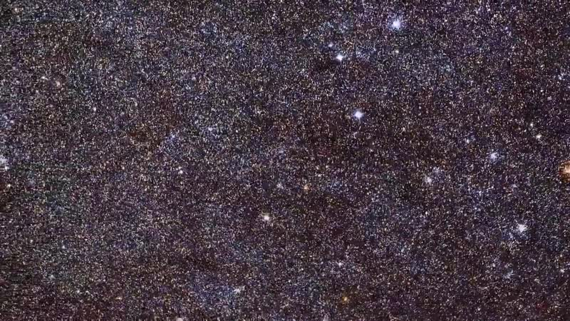Небольшой фрагмент галактики Андромеды
