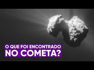 O que foi descoberto pela sonda que pousou no cometa?