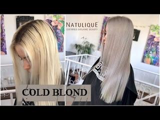 Cold Ash Blond. Natulique. Холодный пепельный блонд. Органический краситель для волос.