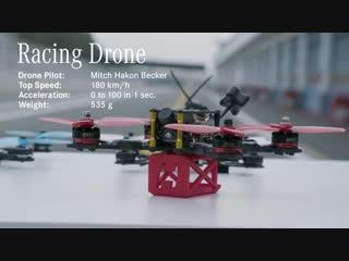 Sports car vs racing drone