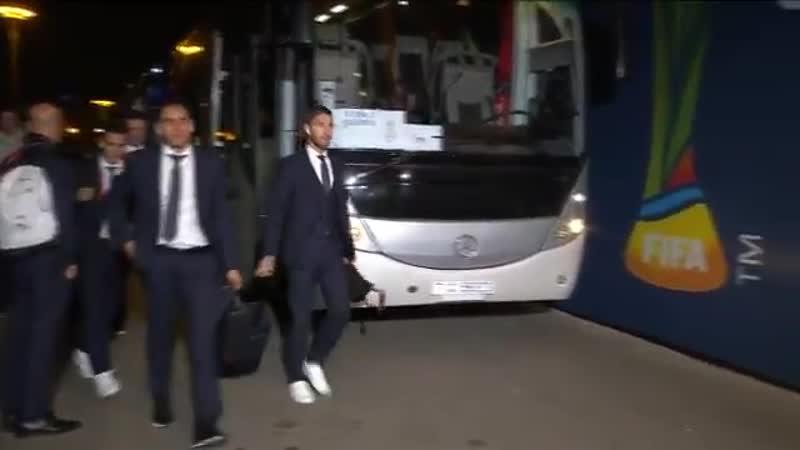Мадридисты прибыли на стадион Шейх Зайед