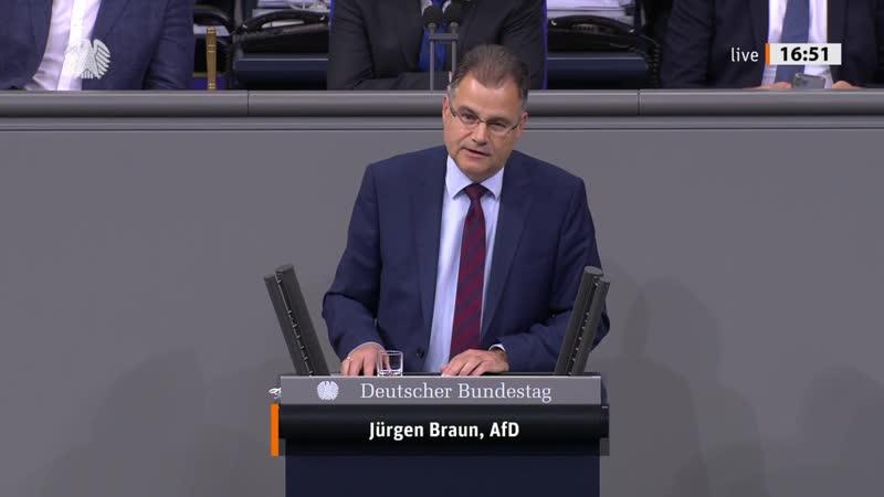 Deutschland Paradies für Kriegsverbrecher und Terroristen Jürgen Braun AfD Fraktion