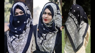 SPECIAL - Daily Full Coverage Hijab + Niqab Tutorial with Square Scarf for Class/Office [MUNA]