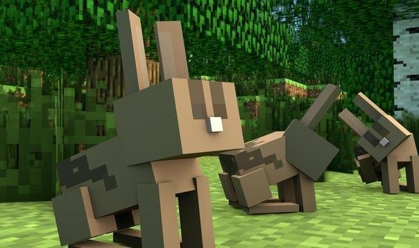 майнкрафт кролики #8