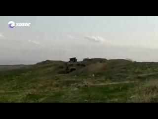 🔥Момент уничтожения азербайджанскими военными танка T-72 ВС Армении противотанковым ракетным комплексом «Спайк».